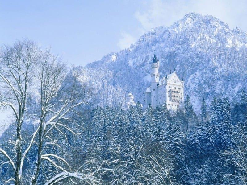 Neuschwanstein Kalesi Bavariya Almanya