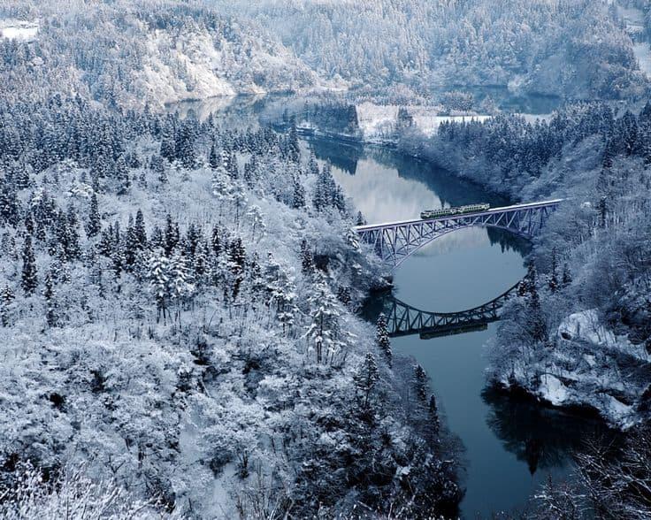 Tadami Nehri Fukushima Japonya