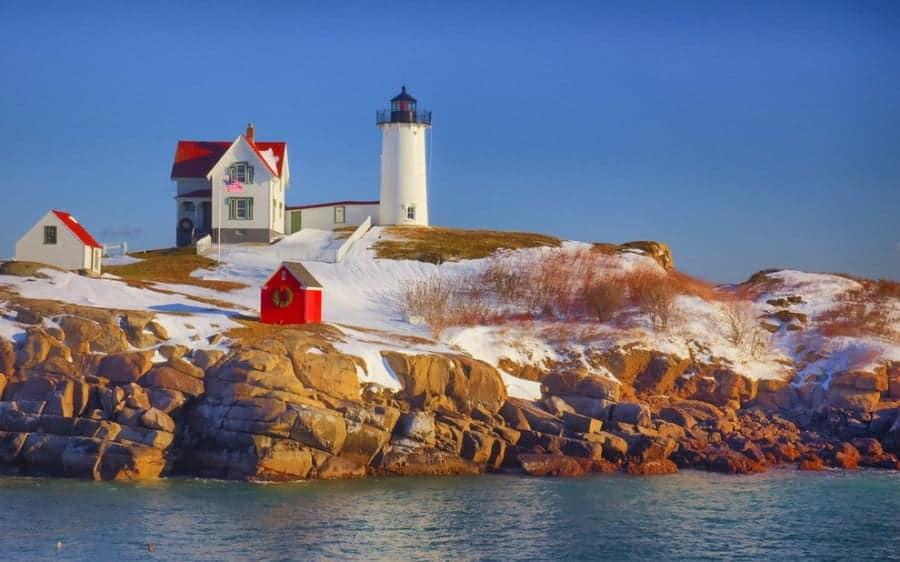 Cape Neddick Light Maine Amerika Birleşik Devletleri