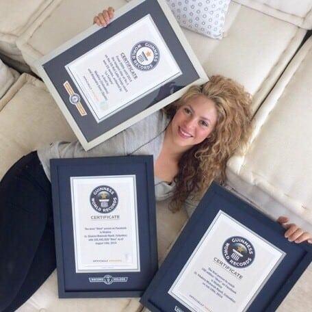 Shakira Guiness Rekorlar Kitabı