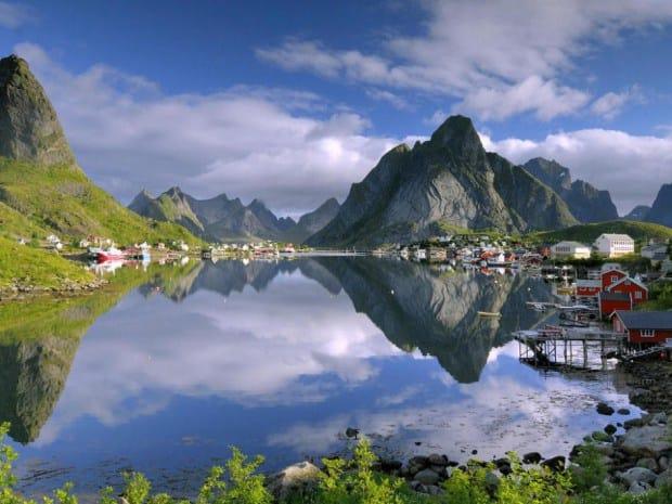 rine norveç reinenorway dünyanın en güzel yerleri